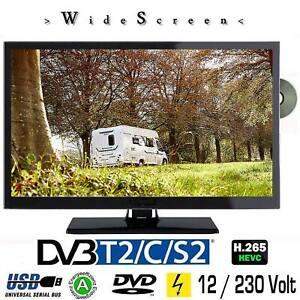 LED Fernseher B-Ware 22 Zoll DVB/S/S2/T2/C, DVD, USB, 12V 230 Volt
