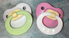 Vintage Gerber Nuk Silicone Pacifiers,Pink/White-White/Green -NB Size