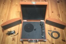 "Pyle ""Vintage"" Bluetooth Portable Briefcase Turntable Sound Around Record Player"