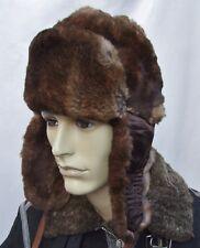 Vintage REAL RABBIT Ushanka trapper fur hat size  M 57cm ab48c732c746
