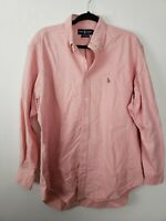 Ralph Lauren Mens Shirt Size 16.5 Yarmouth Pink Long Sleeve