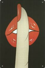 LIPS FINGER SEXY LADY GIRL METAL PLAQUE TIN SIGN 100's OF OTHER ONES LISTED B23
