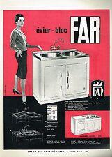 J- Publicité Advertising 1960 Evier Bloc Cuisine FAR