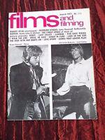 FILMS AND FILMING-UK MOVIE MAGAZINE- MAR 1971- ROBERT RYAN - RAYMOND STROSS