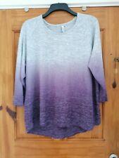 Womens Size 22 Grey Purple Saltrock Jumper Top