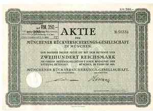 Münchener Rückversicherung  1929 München  ERGO