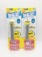 2 Minions PEZ Dispensers Otto and Bob 12 Rolls of Candy Brand New In Package