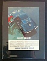 """1963 Chevrolet Corvette Sting Ray*Original*Ready to Display"""" car ad gift 1964"""