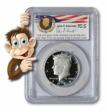 "2014-S Enhanced Silver Kennedy Half PCGS MS70PL - RARE ""PL"" First Strike"