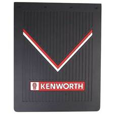 "Kenworth OEM Black Rubber Mudflaps 30"" x 24"" w/ Red & White Logos Sold as Pair"
