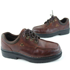 Men's Rocky Work Shoes Size 9.5M Genuine Brown Leather Steel Toe Oil Resistant