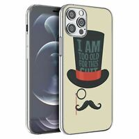 For iPhone 12 & 12 Pro Silicone Case Funny Sayings Moustache - S1162