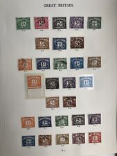 Great Britain Postage Due And To Pay Stamp Collection On 5 Pages