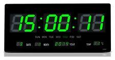 Wanduhr LED Digitaluhr digital Wohnzimmer Küchenuhr beleuchtung 2008 in grün