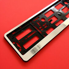 1x Chrome Number Plate Surrounds Holders Frame For Any Cars