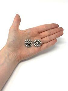 Nice Pair of Vintage Sterling Silver 925 S.C.F Designer Denmark Earrings #352