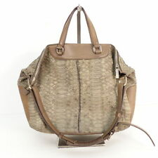 TOD´S Schultertasche ECHT LEDER Kroko Damen Khaki Tasche Handtasche Bag