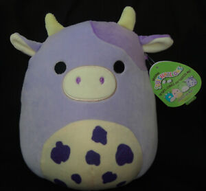 """Kellytoy Co Squishmallow Purple Cow Bubba 9.5"""" New Release Easter 2021 NWT"""