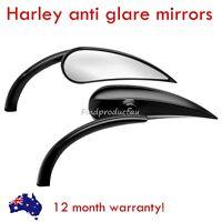 Black claw rear view Mirrors RAD II mini Teardrop Harley dyna softail vrod glide