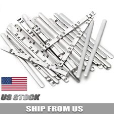 Aluminum Metal Nose Wires Bendable Twist Ties Bridge With Adhesive Back 85x5mm