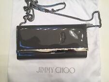 Jimmy Choo 'Milla' Gray Patent Leather, with Chain, Clutch  Wallet Retail $775+