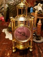 Vintage Antique  Barometer Thermometer Brass three sided