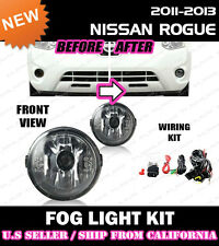 for NISSAN ROGUE SELECT 11-15 Fog Light Driving Lamp Kit w/switch wiring (CLEAR)