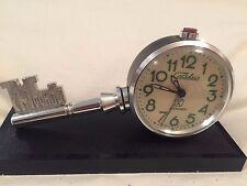 Slava alarm clock  key soviet ussr russia vintage rare mechanic deco propoganda