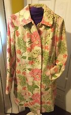 Women's Moda International Victoria's Secret Flower Coat Size M