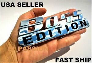 The BOSS EDITION Chrome Fit All Cars Boat SUV logo Bumper Decal CUSTOM EMBLEMS