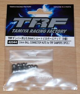 Tamiya 42344 TRF 5.8mm Ball Connector Nuts for TRF Dampers (TRF420), NIP