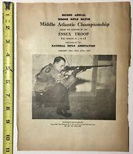 1937 National Rifle Association Nra Mid Atlantic Championship Program Guns Rare
