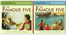 FAMOUS FIVE - ADVENTURING AGAIN & TREASURE ISLAND PROMO AUDIO BOOK CDS
