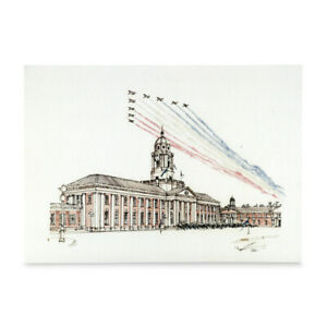 A3 Art Print Poster RAF College Cranwell Hand Sketched Military Building Art