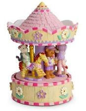 Child Baby Girl Newborn Pink Teddy Musical Carousel Snowglobe Christening Birth
