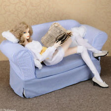 [Dollmore] Sofa cover Model doll size - Fabric Double Sofa Cover (Blue)