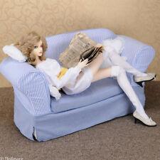 [Dollmore] 75cm, 58cm Model doll size - Fabric Double Sofa (Blue)