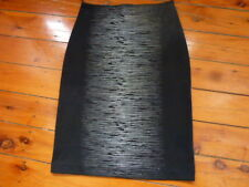 Ladies Black Skirt with silver metallic pattern Size S