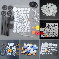 Mixed Plastic Crown Gear Belt Wheel Sector Set DIY Toy Car Robot RC Model Craft