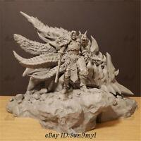Neltharion Death Wing Varian Wrynn Unpainted Resin Kits Model GK Statue 3D Print