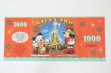 Tokyo Disney Resort Gift Of Christmas 2017 Gift Card Disney Dollar 1000 YEN