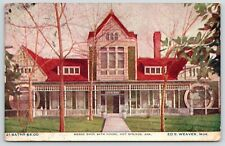 Hot Springs Arkansas~Horse Shoe Bath House Close Up~Round Windows~Ed Weaver~1911
