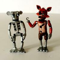 "2pcs Funko Five Nights at Freddy's FNAF Foxy and Skeleton Figureine 2"" BIN"