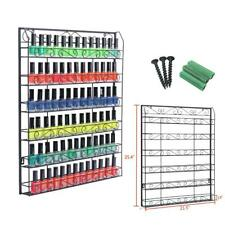 6 Layers Metal Nail Polish Lipstick Display Rack Wall Mounted Holder Organizer