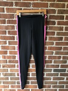 MONDOR Figure Skating Pants Adult L- XL - Black &  Electric Pink Brand New