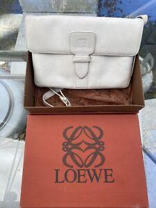 Vintage Loewe White Shoulder Bag