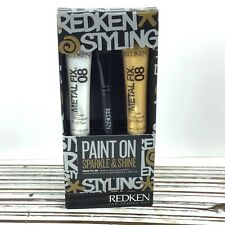 REDKEN Styling Hair Paint On Sparkle Shine / Metallic Silver Gold / Free Brush
