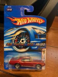 2005 Hot Wheels First Editions Realistix '69 Pontiac GTO #18 Red