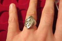 Bezaubernder großer ausgefallen Silber 925 Ring Designer Groß Zirkonia