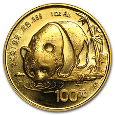 Random Year 1 oz Gold Chinese Panda Coin Not Sealed Brilliant Uncirculated